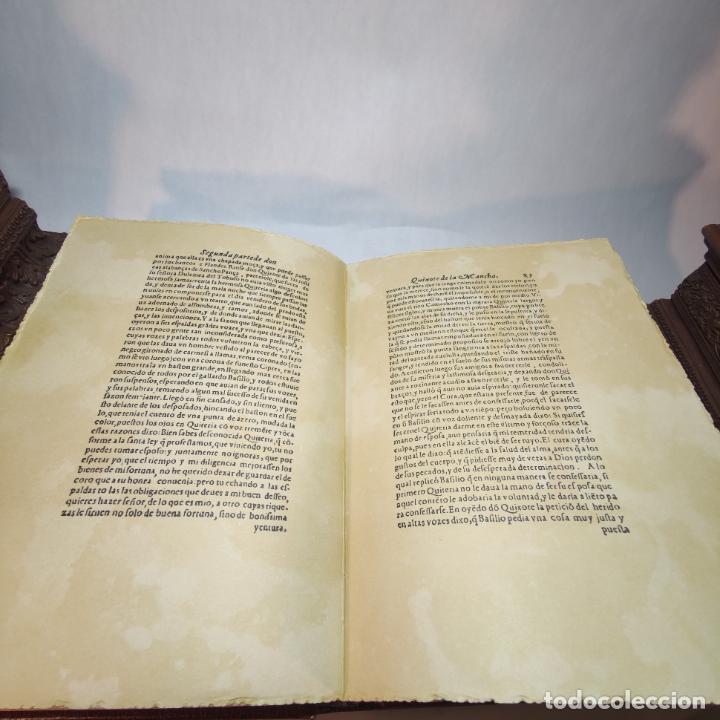 Libros de segunda mano: Don quijote de la mancha. Miguel de Cervantes. Edición Fascimil de 1605 y 1615. - Foto 14 - 236968975