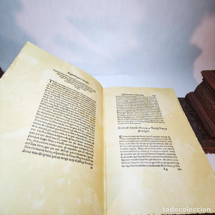 Libros de segunda mano: Don quijote de la mancha. Miguel de Cervantes. Edición Fascimil de 1605 y 1615. - Foto 15 - 236968975