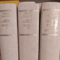 Libros de segunda mano: OBRAS COMPLETAS BENITO PÉREZ GALDÓS AGUILAR 1975 3 VOLS. Lote 237318185