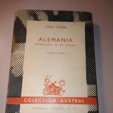 Libros de segunda mano: ALEMANIA. JULIO CAMBA. Lote 237546255