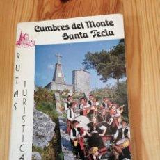 Libros de segunda mano: CUMBRES DEL MONTE SANTA TECLA, LA GUARDIA TUY BAYONA VIGO, GUMERSINDO 1976, LIBRO. Lote 238620235