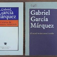 Libros de segunda mano: GABRIEL GARCIA MARQUEZ 2 TITULOS. Lote 238710900