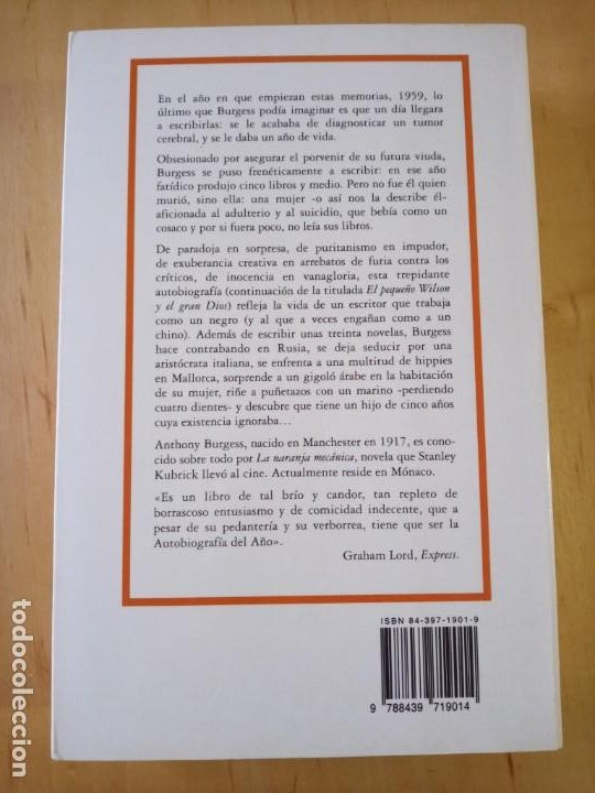 Libros de segunda mano: ANTHONY BURGESS YA VIVISTE LO TUYO - Foto 2 - 239717875