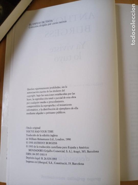 Libros de segunda mano: ANTHONY BURGESS YA VIVISTE LO TUYO - Foto 5 - 239717875