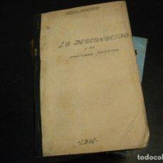 Libros de segunda mano: CAMILO FLAMMARION, LO DESCONOCIDO Y LOS PROBLEMAS PSIQUICOS, LIBRERIA BOURET,1901 DEFECTO. Lote 239725650