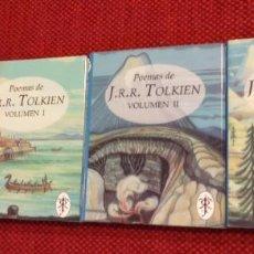 Libros de segunda mano: POEMAS DE TOLKIEN - 3 LIBROS - MINIATURA - ILUSTRADOS - MINOTAURO. Lote 240276230