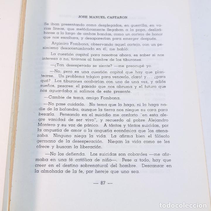 Libros de segunda mano: Una balandra encalla en tierra firme. Novela de emigrantes. Jose Manuel Castañón. Ediciones Paraguac - Foto 5 - 241764545