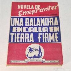 Libros de segunda mano: UNA BALANDRA ENCALLA EN TIERRA FIRME. NOVELA DE EMIGRANTES. JOSE MANUEL CASTAÑÓN. EDICIONES PARAGUAC. Lote 241764545