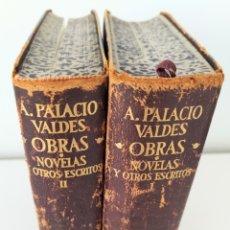 Libros de segunda mano: AGUILAR - OBRAS NOVELAS Y OTROS ESCRITOS - ARMANDO PALACIO VALDES (2 TOMOS). Lote 242246020