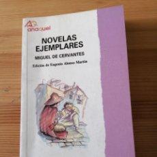 Libros de segunda mano: NOVELAS EJEMPLARES, MIGUEL DE CERVANTES, BRUÑO 1991, LIBRO. Lote 242272460