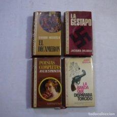Libros de segunda mano: LOTE 4 NOVELAS DE BRUGUERA. TAPA DURA Y CUBIERTA GUAFLEX - 1971 - 1.ª EDICION. Lote 242344185