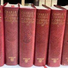Libros de segunda mano: OBRAS COMPLETAS DE CHARLES DICKENS - AGUILAR COLECCIÓN OBRAS ETERNAS 6TOMOS. Lote 242351315