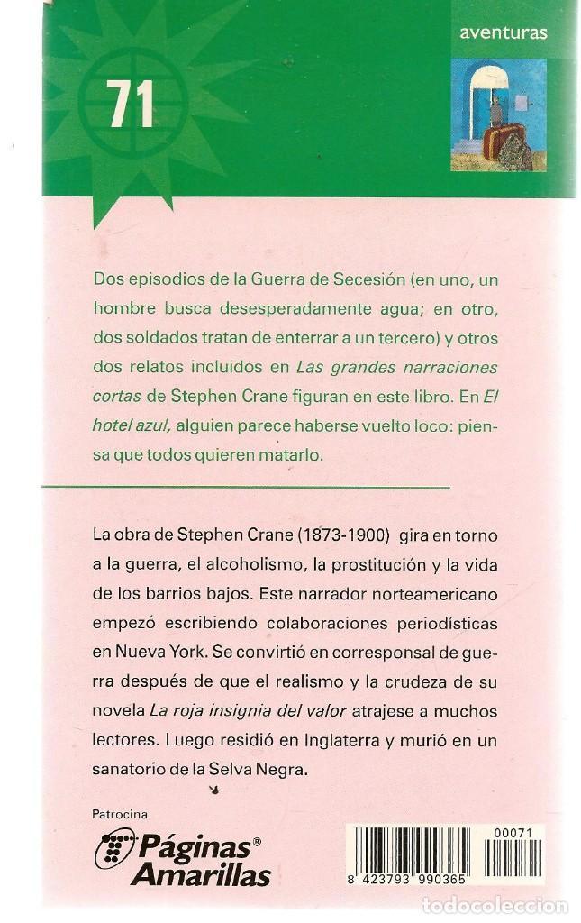 Libros de segunda mano: LAS NOVELAS DEL VERANO. Nº 71. EL HOTEL AZUL. STEPHEN CRANE. EL MUNDO.(ST/C35) - Foto 2 - 243607045