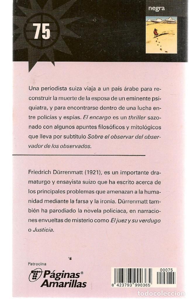 Libros de segunda mano: LAS NOVELAS DEL VERANO. Nº 75. EL ENCARGO. FRIEDRICH DÜRRENMATT. . EL MUNDO.(ST/C35) - Foto 2 - 243607190