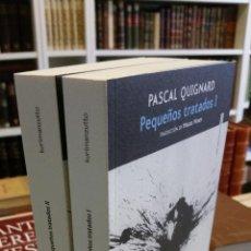 Libros de segunda mano: 2016 - PASCAL QUIGNARD - PEQUEÑOS TRATADOS I Y II - SEXTO PISO. Lote 243792410