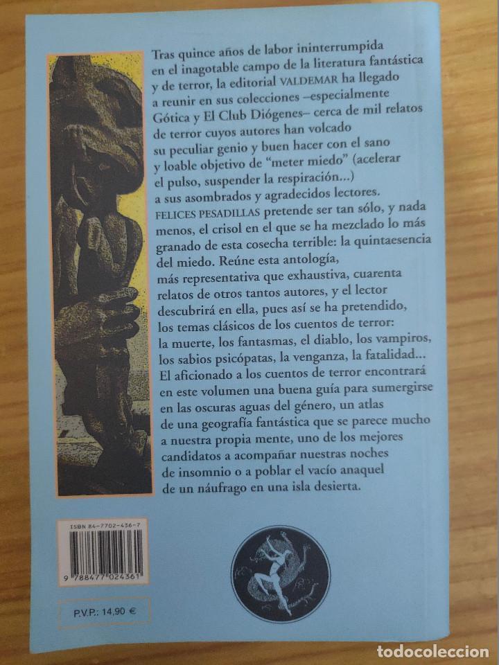 Libros de segunda mano: Felices pesadillas (varios autores) Valdemar Club Diógenes nº 200 - Foto 2 - 243932500