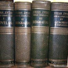 Libros de segunda mano: OBRAS COMPLETAS. TOMOS DEL I AL IV. PUBLICADO EN 1959 - STEFAN ZWEIG. Lote 243998440