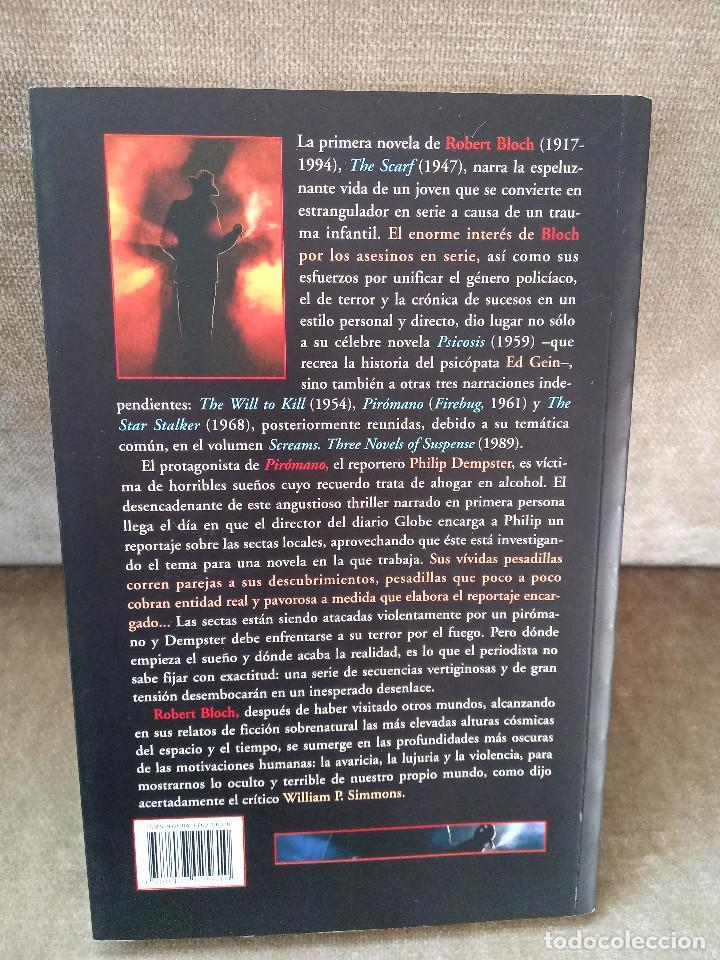 Libros de segunda mano: ROBERT BLOCH - PIRÓMANO - VALDEMAR, 2007 - GRAN DIÓGENES - Foto 3 - 244472540