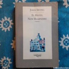 Libros de segunda mano: JOHN IRVING. EL HOTEL NEW HAMPSHIRE. FABULA TUSQUETS 1.ª EDICIÓN 1995.. Lote 244493840