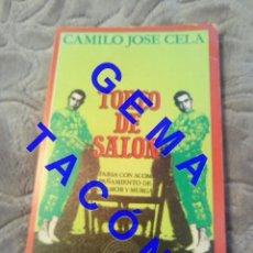 Libros de segunda mano: TOREO,DE SALÓN CAMILO JOSÉ CELA U37. Lote 244688590