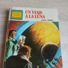 Libros de segunda mano: UN VIAJE A LA LUNA POR JULIO VERNE CON 250 ILUSTRACIONES A COLOR EDITORIAL BRUGUERA 1976. Lote 244719115