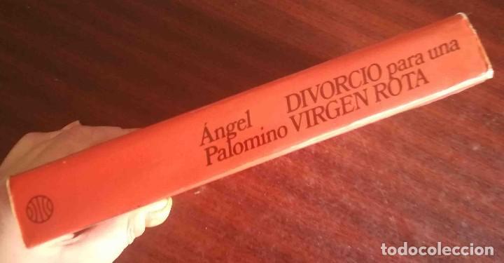 Libros de segunda mano: Divorcio para una virgen rota (Ángel Palomino) Planeta 1978 - Foto 3 - 244781490