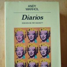 Libros de segunda mano: ANDY WARHOL DIARIOS. Lote 245110165