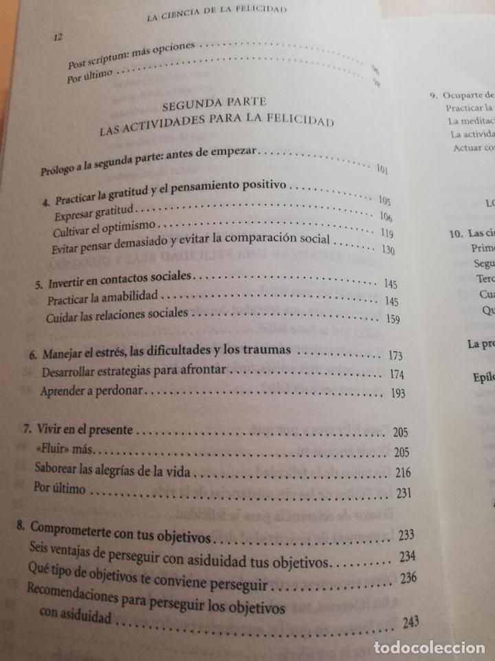 Libros de segunda mano: LA CIENCIA DE LA FELICIDAD. SONJA LYBOMIRSKY. EDITORIAL URANO. 2008. PAG.408. - Foto 5 - 245366080