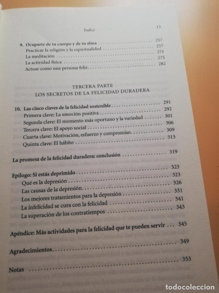 Libros de segunda mano: LA CIENCIA DE LA FELICIDAD. SONJA LYBOMIRSKY. EDITORIAL URANO. 2008. PAG.408. - Foto 6 - 245366080
