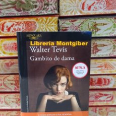 Libros de segunda mano: GAMBITO DE DAMA . AUTOR : TEVIS , WALTER. Lote 245387750