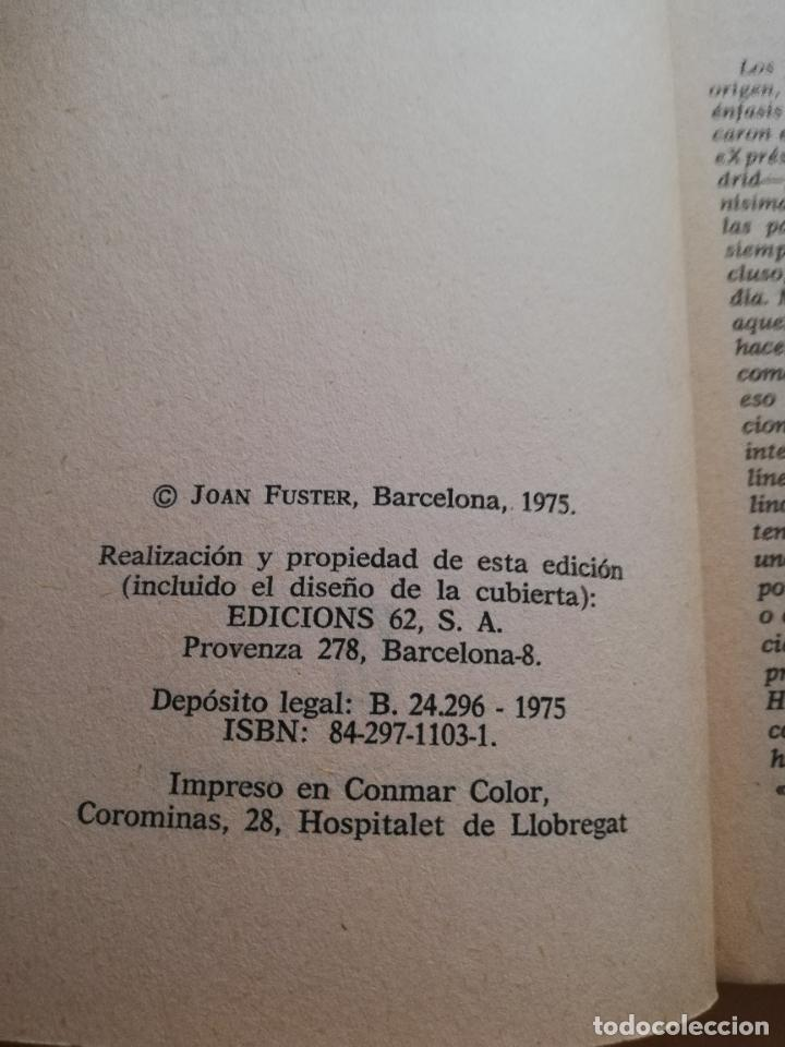 Libros de segunda mano: CONTRA UNAMUNO Y LOS DEMAS. JOAN FUSTER. EDICIONES DE BOLSILLO. 1975. PAG. 163. - Foto 3 - 245417100