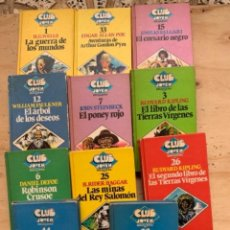 Libros de segunda mano: 11 LIBROS BRUGUERA, CLUB JOVEN BRUGUERA, EDICIONES ÍNTEGRAS E ILUSTRADAS. Lote 245549315