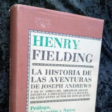 Libros de segunda mano: LA HISTORIA DE LAS AVENTURAS DE JOSEPH ANDREWS - HENRY FIELDING - ALFAGUARA - CLASICOS. Lote 245557265