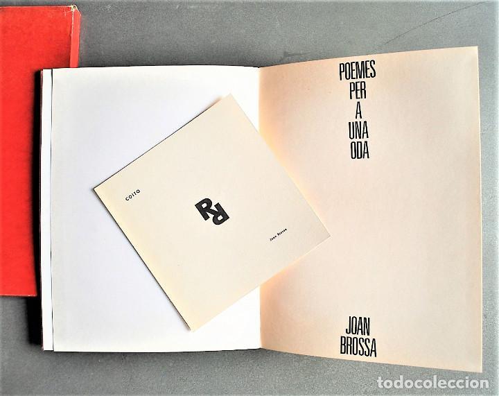 Libros de segunda mano: Joan Brossa. Poemes Visuals. Poemes Per a Una Oda. - Foto 2 - 245574465
