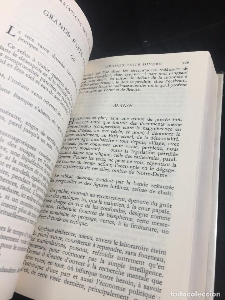 Libros de segunda mano: STHEPANE MALLARMÉ OEUVRES COMPLETES, LA PLEIADE, 1.659 PAGS. 1979 - Foto 6 - 245762330