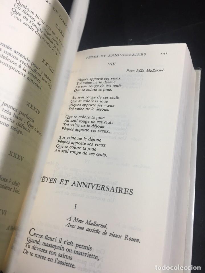 Libros de segunda mano: STHEPANE MALLARMÉ OEUVRES COMPLETES, LA PLEIADE, 1.659 PAGS. 1979 - Foto 9 - 245762330