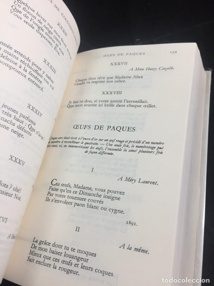 Libros de segunda mano: STHEPANE MALLARMÉ OEUVRES COMPLETES, LA PLEIADE, 1.659 PAGS. 1979 - Foto 10 - 245762330