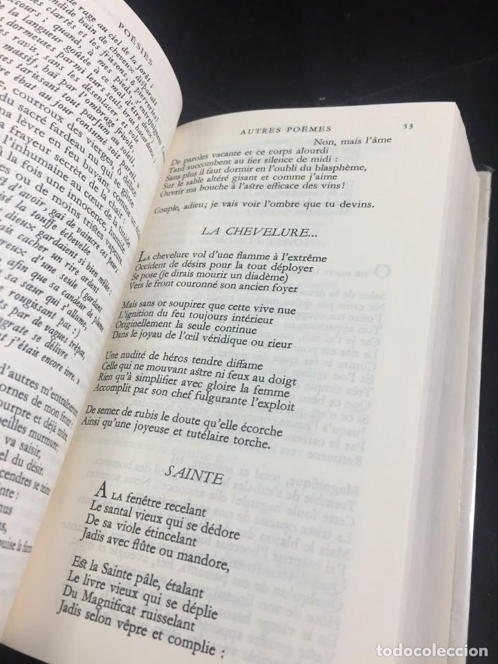 Libros de segunda mano: STHEPANE MALLARMÉ OEUVRES COMPLETES, LA PLEIADE, 1.659 PAGS. 1979 - Foto 12 - 245762330