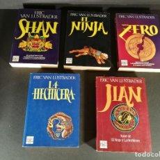 Libros de segunda mano: LOTE 5 TOMOS ERIC VAN LUSTBADER / SHAN / EL NINJA / ZERO / LA HECHICERA / JIAN AÑOS 80. Lote 245767735