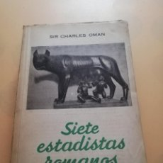 Libros de segunda mano: SIETE ESTADISTICAS ROMANAS. SIR CHARLES OMAN. EDICIONES PEGASO. 1944. PAG 211.. Lote 246084685