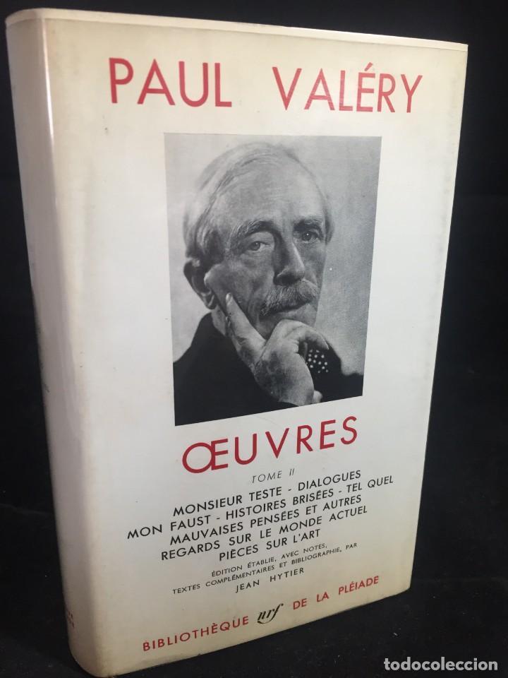 ŒUVRES PAUL VALERY. BIBLIOTHÈQUE DE LA PLÉIADE 1960. TOMO II (Libros de Segunda Mano (posteriores a 1936) - Literatura - Narrativa - Otros)