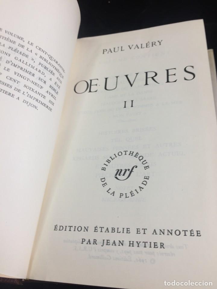 Libros de segunda mano: Œuvres Paul Valery. Bibliothèque de la Pléiade 1960. Tomo II - Foto 10 - 267175044