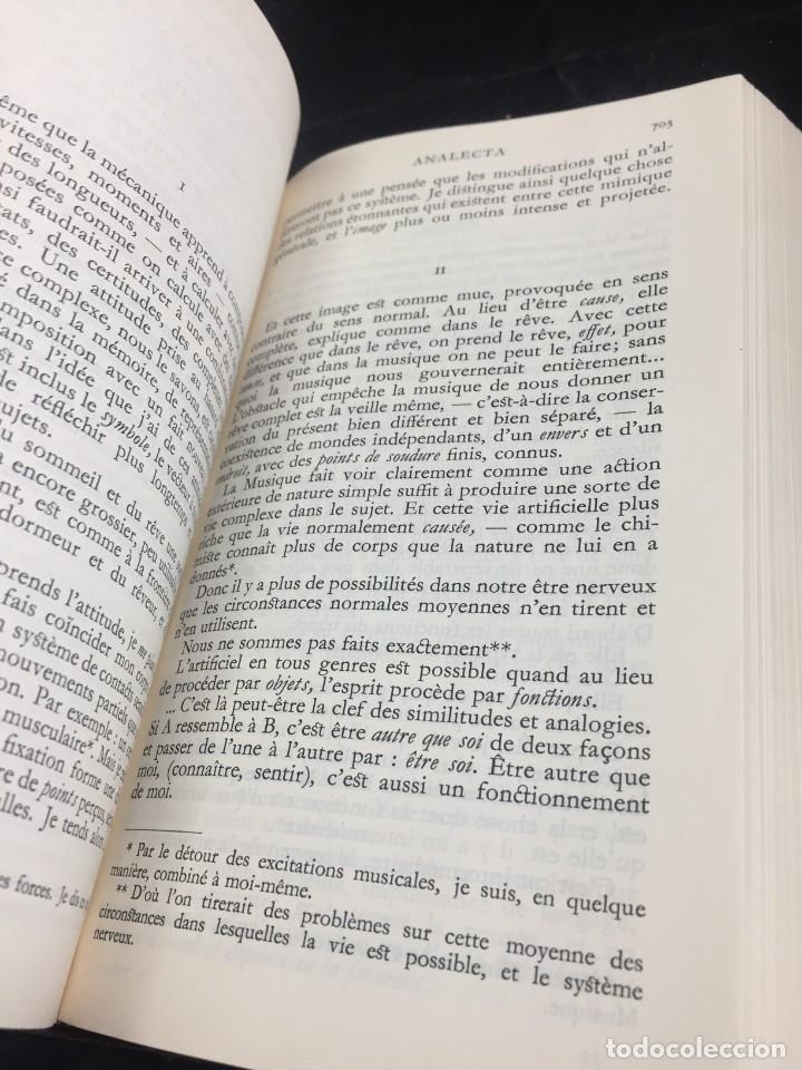 Libros de segunda mano: Œuvres Paul Valery. Bibliothèque de la Pléiade 1960. Tomo II - Foto 3 - 267175044