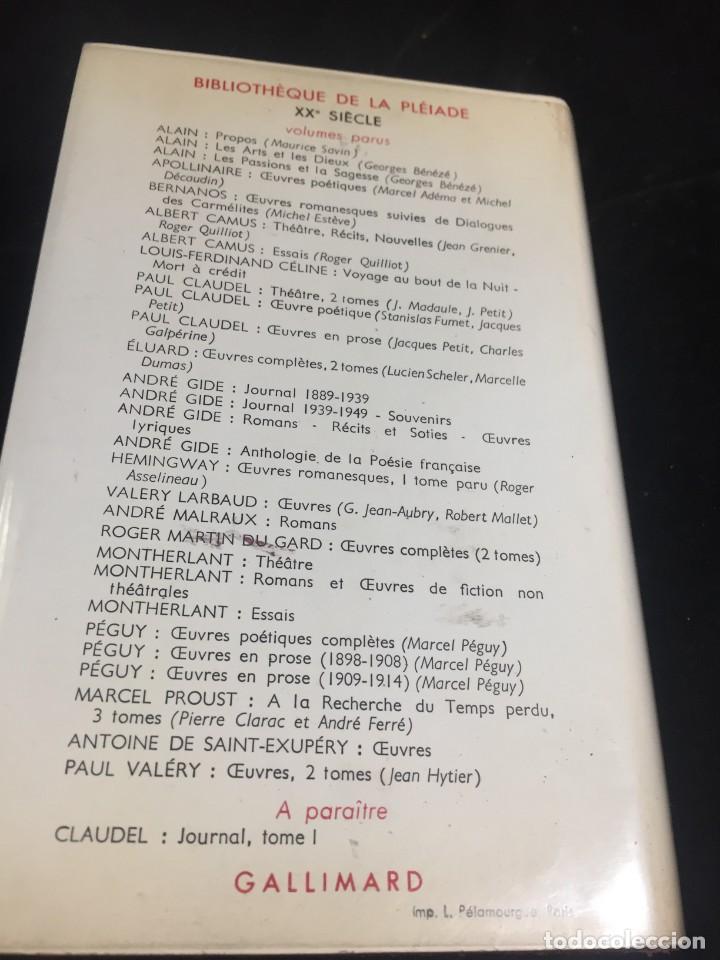Libros de segunda mano: Œuvres Paul Valery. Bibliothèque de la Pléiade 1960. Tomo II - Foto 8 - 267175044