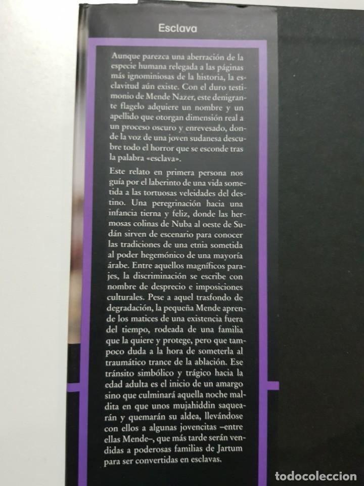 Libros de segunda mano: ESCLAVA. MENDE NAZER Y DAMIEN LEWIS. CIRCULO DE LECTORES. 2003 - Foto 4 - 246354730
