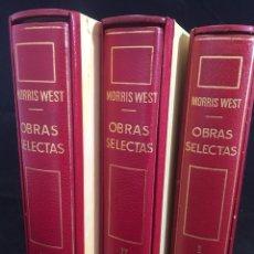 Libros de segunda mano: MORRIS WEST OBRAS SELECTAS. PLANETA TOMOS I, II Y III CON ESTUCHE 1ª PRIMERA EDICIÓN 1968/71. Lote 247061300