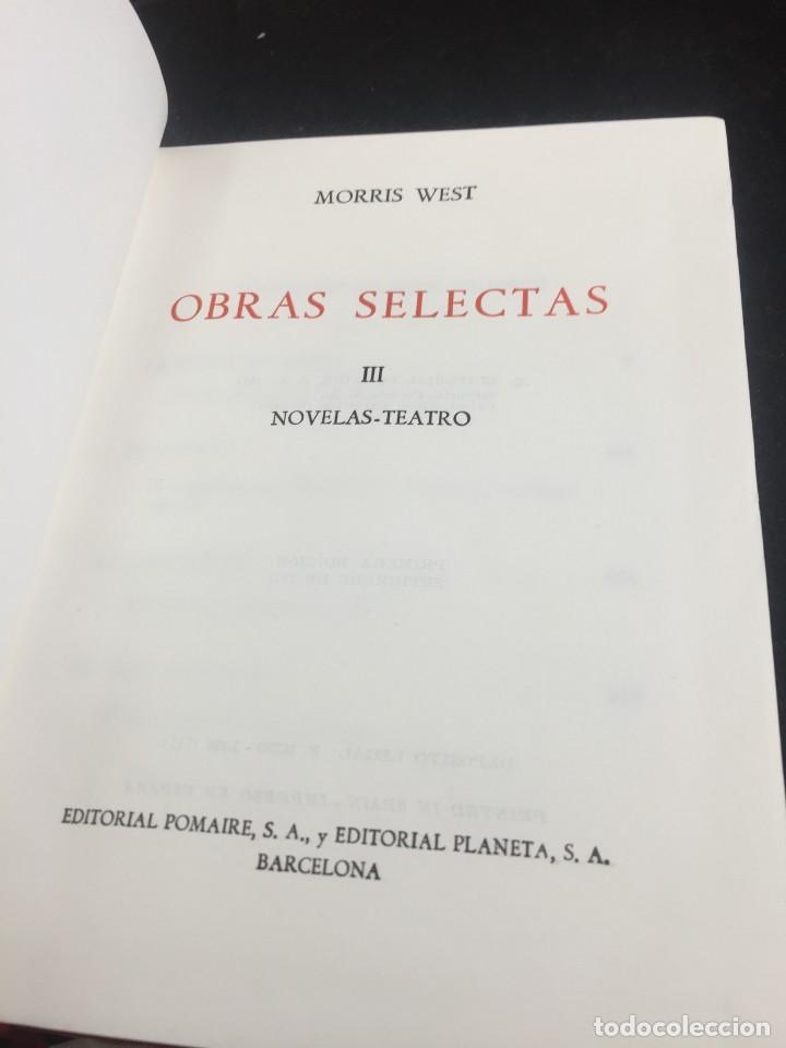Libros de segunda mano: Morris West OBRAS SELECTAS. PLANETA TOMOS I, II y III CON ESTUCHE 1ª PRIMERA EDICIÓN 1968/71 - Foto 14 - 247061300