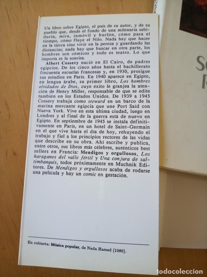 Libros de segunda mano: ALBERT COSSERY MENDIGOS Y ORGULLOSOS - Foto 3 - 247773725