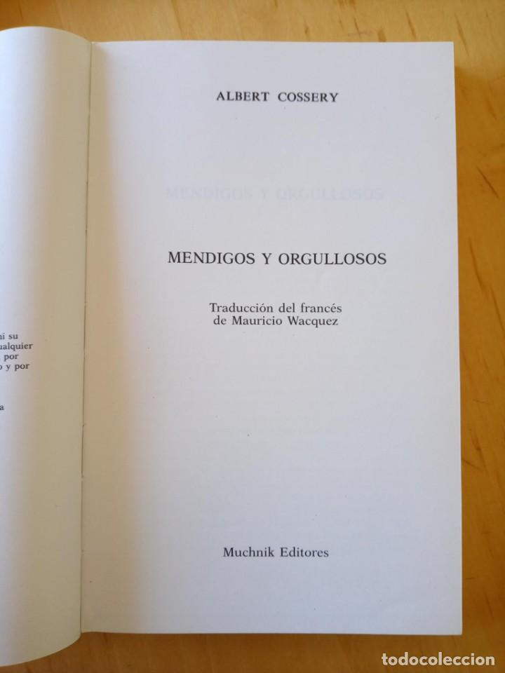 Libros de segunda mano: ALBERT COSSERY MENDIGOS Y ORGULLOSOS - Foto 5 - 247773725