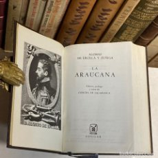 Libros de segunda mano: AÑO 1968 - LA ARAUCANA DE ALONSO DE ERCILLA- AGUILAR COLECCIÓN JOYA 1ª EDICIÓN. Lote 250181425